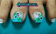 Uñas Cute Toe Nails, Cute Toes, Love Nails, My Nails, Cute Pedicure Designs, Toe Nail Designs, Pedicure Nail Art, Toe Nail Art, Cute Pedicures