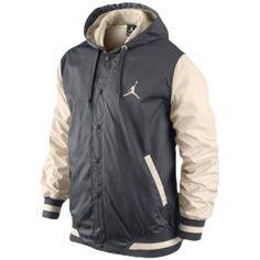4b2dc496e588 Jordan The Varsity Woven Hoodie - Men s - Basketball - Clothing - Dark Grey  Natural