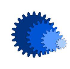 Free gears cutting file #Silhouette #Cricut #CutFile