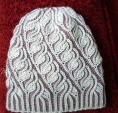 Женская шапка в технике Brioche Stitch - Модное вязание
