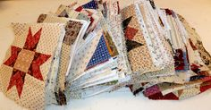 Sue Garman.  Awesome site!  Look at all those (300) blocks!  She makes a quilt block a day.