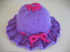 Ravelry: Bell Ruffle Toddler Hat pattern by Kathy North Crochet Baby Blanket Beginner, Crochet Baby Hat Patterns, Crochet Baby Hats, Knit Crochet, Baby Hats Knitting, Knitting For Kids, Loom Knitting, Knitted Hats, Patch