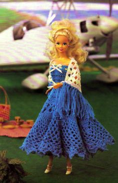 Fashion-Doll-Dress-with-Matching-Shawl-Doll-Outfit-Crochet-Pattern-Instructions