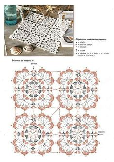 40 Best Ideas For Crochet Coasters Table Runners Doily Patterns Crochet Motifs, Crochet Borders, Crochet Diagram, Crochet Stitches Patterns, Doily Patterns, Crochet Chart, Crochet Squares, Crochet Granny, Irish Crochet