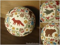 PDF cross stitch quaker ball pattern: Animal Planet by NataliyaEmbroidery on Etsy