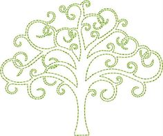 Viking Embroidery, Hand Embroidery Patterns, Machine Embroidery Designs, Cross Stitch Patterns, Machine Design, Machine Quilting, Tree Of Life, Embroidered Flowers, Quilting Designs