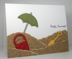 such a cute 'beachy' card! love the sandpaper sand!