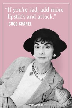 Coco Chanel famously lived her life according to her own rules. Her musings on elegance, love, and life are as timeless as her classic Chanel designs. Take a look at the founder of Chanel's most memorable, inspiring, and outspoken quotes here. Citation Coco Chanel, Coco Chanel Quotes, Coco Chanel Pictures, Chanel 19, Chanel Bags, Chanel Handbags, Estilo Coco Chanel, Coco Chanel Style, Coco Chanel Fashion