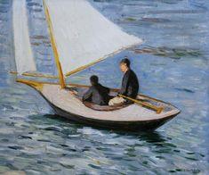 Gustave Caillebotte-Segelboot auf der Seine