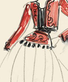 Yves Saint Laurent was a true master of sketches. Fashion Illustration Vintage, Fashion Illustrations, Fashion Art, Vintage Fashion, Fashion Design, Ancient Greek Costumes, Ysl Saint Laurent, Fashion Bazaar, Terms Of Endearment