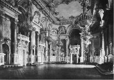 """Hauszmann Alajos - A mai """"B"""" épület """"nagy táncterme Building Aesthetic, Dark Castle, Buda Castle, Royal Residence, Royal Palace, Central Europe, Budapest Hungary, Beautiful Buildings, France"""