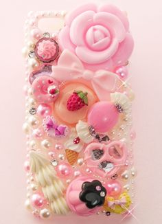 UK DIY Deco & Kawaii Craft Supplier Cute SUGAR & SPICE Deco Decoden Kawaii IPHONE 4 or 5 Phone Case