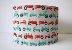 Tractor Lamp For Kids, Tractors Bedroom Lampshade, Boys Room Light For Nursery, Tractor Decoration B Tractor Decor, Red Tractor, Gray Bedroom, Trendy Bedroom, Tractor Bedroom, Bedroom Lampshade, Tractors For Kids, Baby Boy Nursery Decor, Themed Nursery