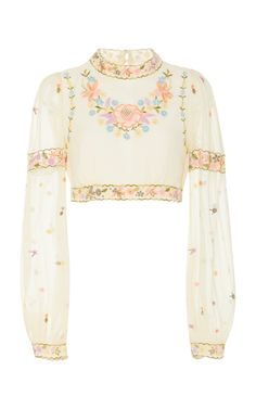 This **Gul Hurgel** top features a cropped hem, a front bow, and contrast piping detailing. Stage Outfits, Mode Outfits, Fashion Outfits, Womens Fashion, Looks Chic, Looks Style, My Style, Look Fashion, Fashion Design