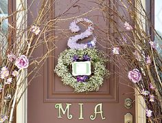 Dreamy Lavender Woodland Fairy Party --- ohhh how lovely... great entrance statement. SO doing this.