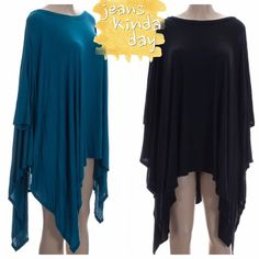 HP 11/20ASYMMETRICAL TUNICS IN BLACK OR TEAL BLACK RESTOCKED! The most comfortable top you will ever wear! Trendy and so easy to deal with. Nice asymmetrical hem, long sleeves. Looks great with skinny jeans and leggings. 96% polyester/4% spandex. NWOT PLEASE DO NOT BUY THIS LISTING, I will personalize one for you. tla2 Tops