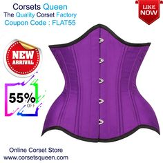 Kerin Waist Training Purple Curvy Corset, Purple underbust corset #underbustcorset #underbustdress #corsetusa #corsetUK #purple #fashion #women #clothing