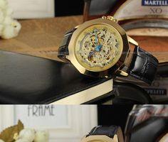 buy winner whole fashion cool fine skeleton leather watches 2016 online shopping forsining nice leather brand watches men erkek kol saati forsining watch company