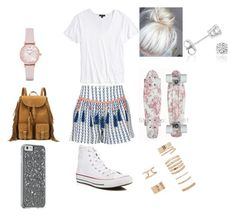 """""""Untitled #346"""" by dougherty-jenny ❤ liked on Polyvore featuring Alphamoment, Topshop, Converse, Yves Saint Laurent, Emporio Armani, Forever 21 and Amanda Rose Collection"""
