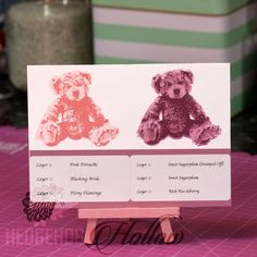 3 step stamping using the New Baby bear set from Stampin' Up! by Hedgeho...