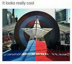But... the whole thing is Cap's shield. Shouldn't there be an arc reactor side? Just so I'm absolutely certain to be walking firmly and completely on TeamBucky.