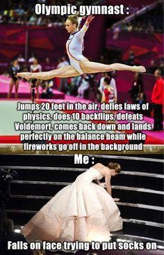 Olympic Gymnast Vs Me