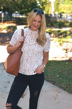 An Easy and Affordable Casual Fall Outfit by Illinois fashion blogger Style in a Small Town