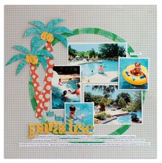paradise{Scrapbook Trends Aug. '12} - Scrapbook.com ... Beach Scrapbook Layouts, Travel Scrapbook Pages, Scrapbooking Photo, Vacation Scrapbook, Scrapbook Sketches, Scrapbook Paper Crafts, Scrapbook Supplies, Scrapbook Cards, Scrapbook Templates