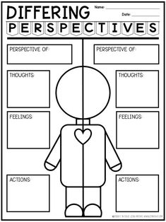 School social work - 5 Key Reasons To Teach Differing Perspectives – School social work Counseling Activities, Therapy Activities, Social Activities, Math Games, Perspective Taking, School Social Work, Social Emotional Learning, Learning Skills, Life Skills