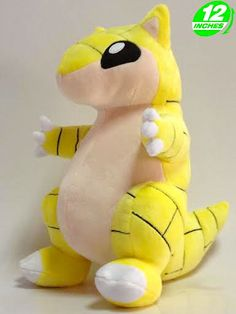 Pokemon Sandshrew Plush  Sandshrew is our newest Pokemon plush. These high-quality toys have a brick pattern hide and outstretched arms like it wants to give you a big hug!  - Plush is approximately 30 cm / 12 inches tall. - Brand new with tags. - Ages 6 & up.