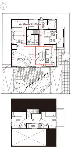 詳細情報 Small House Plans, House Floor Plans, Happy House, My House, Simple Floor Plans, Craftsman Floor Plans, Japanese Style House, Japanese Interior, Architecture Design