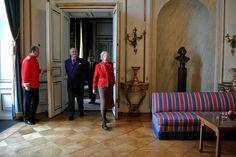 Regentparret holdet tirsdag den 4. marts 2014 pressemøde for tyrkiske journalister i anledning af det forestående statsbesøg fra Republikken Tyrkiet i Christian IX's Palæ, Amalienborg.