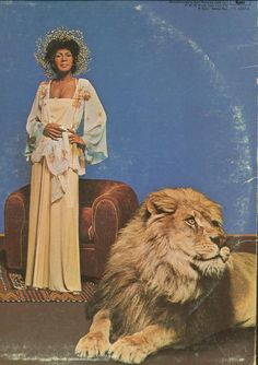 Minnie Riperton was attacked by a lion during this photo shoot. No joke.
