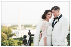 Hay Adams Weddings DC breathtaking views of downtown DC overlooking the White House on the luxury hotel's rooftop venue known as the Top of the Hay.
