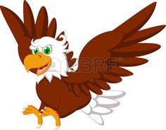 hawk cartoon: Cute Eagle cartoon