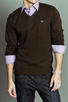 Chocolate sweater. Smooth spring/fall attire
