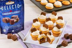 Bite Sized Caramel Cakes are the perfect dessert for a family gathering! Made with Delecto Canadian Classics Milk Caramels. Caramel Cakes, Granulated Sugar, Unsalted Butter, Bite Size, Mini Cupcakes, Sweet Recipes, 2 Eggs, Vanilla, Favorite Recipes