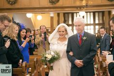 The bride walks down the aisle. Weddings at Tulfarris Hotel Photographed by Couple Photography.