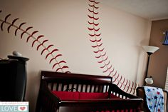 Baseball wal-this would be too cute if we ever have a boy, and my hubby would love it too!