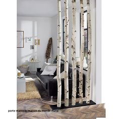 Exclusivholz Birkenstamm Exclusive wood birch trunk m, diameter: about 6 – 12 cm, untreated) Diy Home Decor, Room Decor, Home And Living, Living Room, Diy Room Divider, Home Interior Design, Kitchen Interior, Home Accessories, Sweet Home