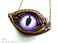 OOAK wire wrapped dragon eye pendant. Pin to save or click to buy