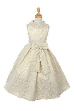 http://childrensdressshop.com/home/154-elegant-jaccard-occasion-dress-in-ivory-and-gold.html  elegant gold and ivory jaccard holiday dress