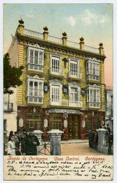 Visor Archivo General Región de Murcia. FOT_POS,09/096 / Cartagena. Banco de Cartagena. Casa Central.