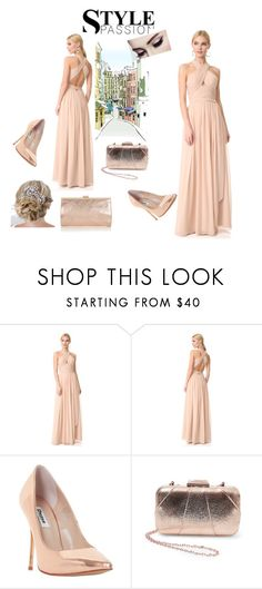 """Evening Party Dress"" by amra83 ❤ liked on Polyvore featuring Monique Lhuillier, Dune, Steve Madden and Coast"