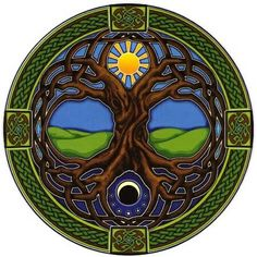 Image result for Moon over tree of life tattoo