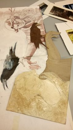 High School Drawing, Collagraph, Art Courses, A Level Art, Drawing Projects, Art Techniques, Canvases, Raven, Printmaking