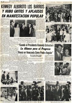 Robert Kennedy en visita a Venezuela. Publicado el 1 de diciembre de 1965.