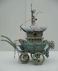 ♧ Charming Fairy Cottages ♧ garden faerie gnome & elf houses & miniature furniture - fae caravan