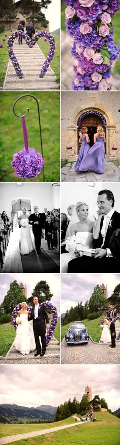 Lavender wedding ceremony in Switzerland is straight from a storybook, photos by Andrea & Marcus Photography