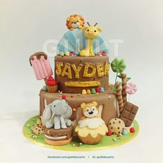 Animal sweets party cake